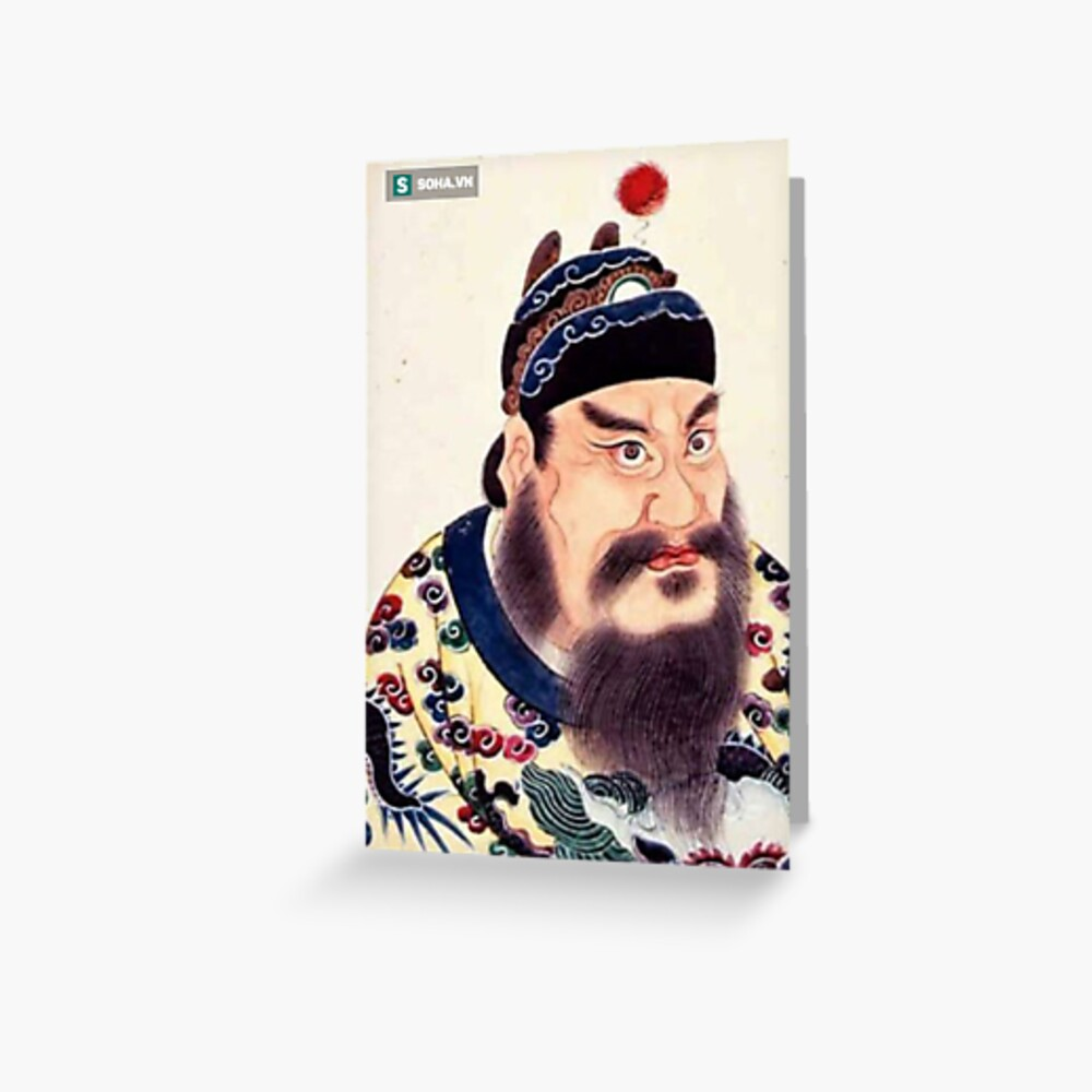 Emperor of China #portrait, #lid, #people, #adult, veil, beard, mustache, cap, one, illustration Greeting Card