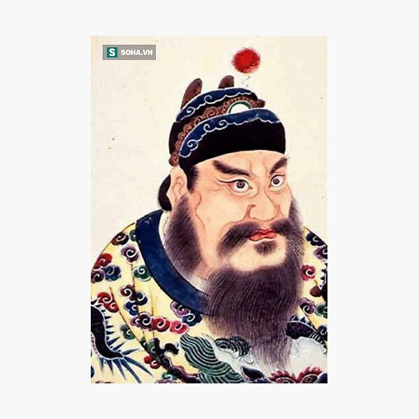 Emperor of China #portrait, #lid, #people, #adult, veil, beard, mustache, cap, one, illustration Photographic Print