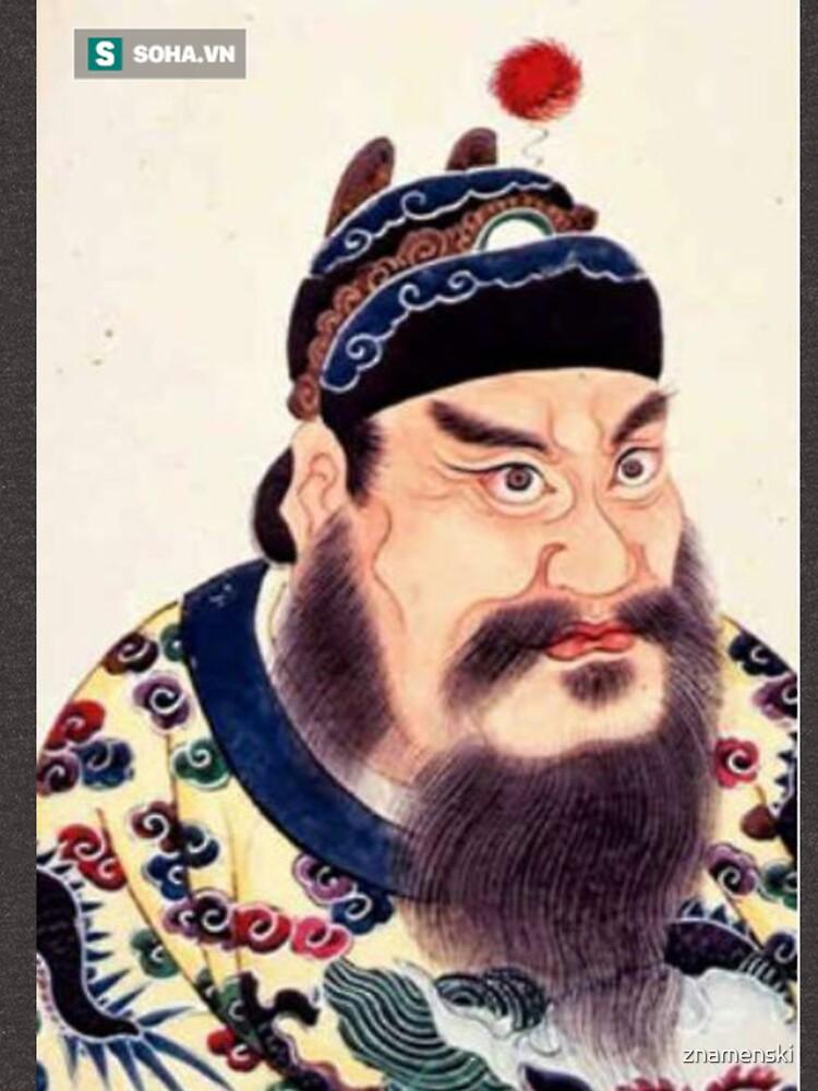 Emperor of China #portrait, #lid, #people, #adult, veil, beard, mustache, cap, one, illustration by znamenski