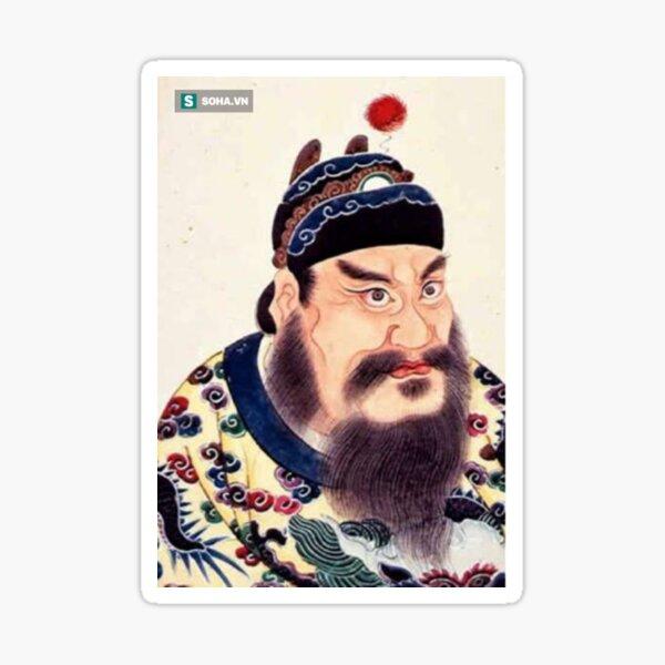 Emperor of China #portrait, #lid, #people, #adult, veil, beard, mustache, cap, one, illustration Sticker