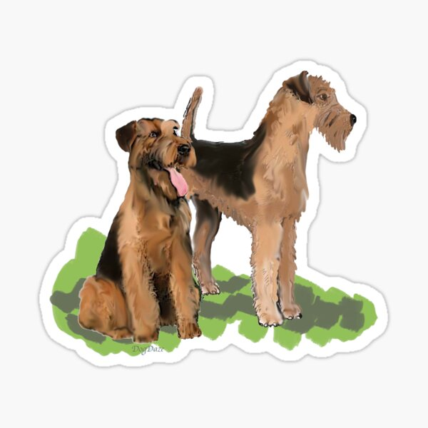 Airedale Terriers Sticker