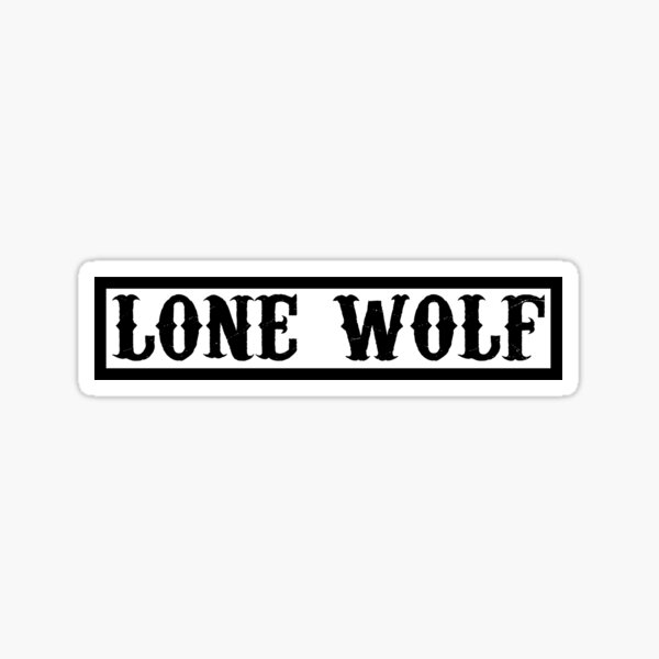 Loup solitaire Sticker