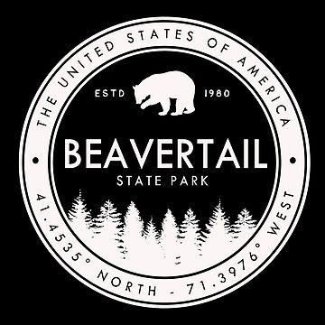Beavertail State Park Rhode Island Emblem by fuller-factory