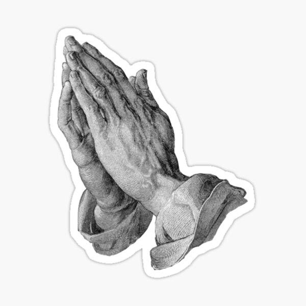 Durer - Hands Praying Sticker