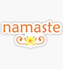 Orange Namaste Sticker