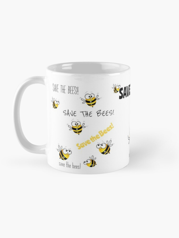 Alternate view of Save the Bees! Mug