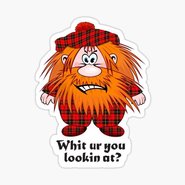 Jock MacNutter - Whit ur you lookin at? Sticker