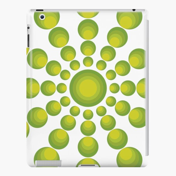 Grüne Kreise im 70er Style iPad – Leichte Hülle