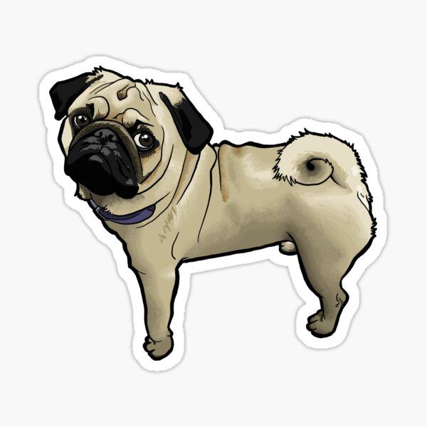 Standing Pug Sticker