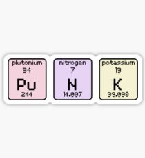 Pu N K, Plutonium, Nitrogen, Potassium Sticker