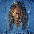 Vampire  (Oil painting on jeans jacket) by Arturas Slapsys