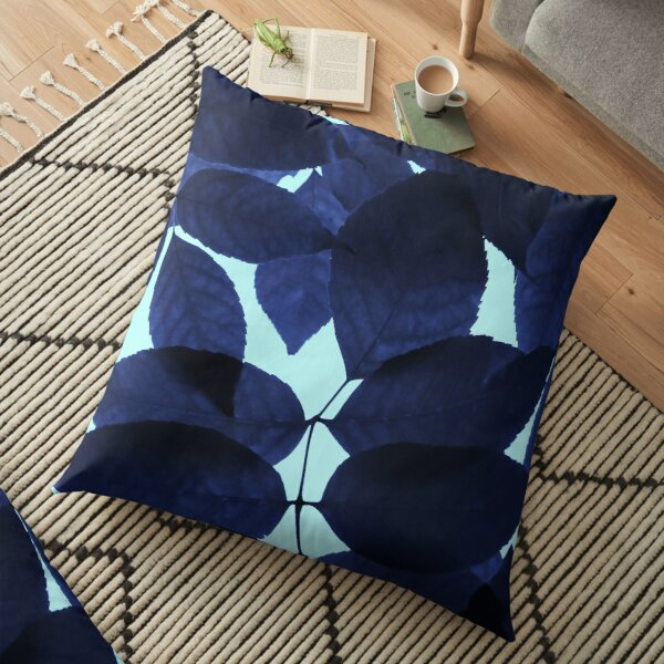 Blue Forest Floor Pillow