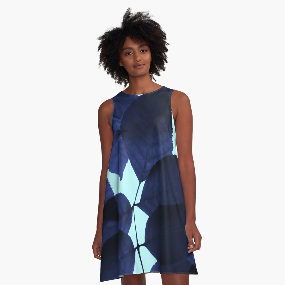 Blue Forest A-Line Dress