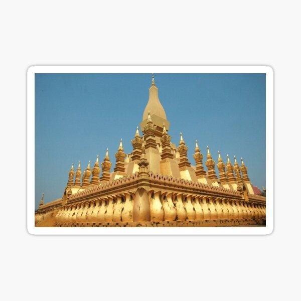 a sprawling Laos landscape Sticker