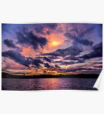 Sunset colors Poster