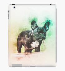 Französische Bulldogge-Digital-Aquarellmalerei iPad-Hülle & Klebefolie