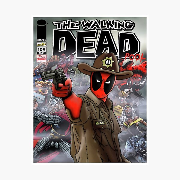 The Walking Deadpool Photographic Print
