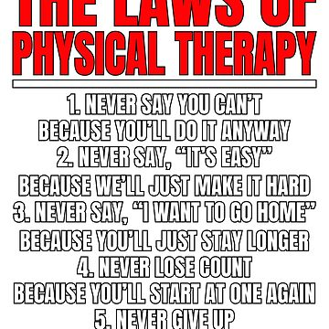 The Laws of Physical Therapy                       by BiagioDeFranco