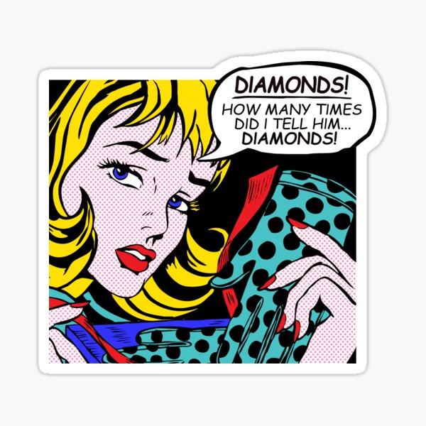 Roy Lichtenstein Comic Art - Girl with Gloves Sticker