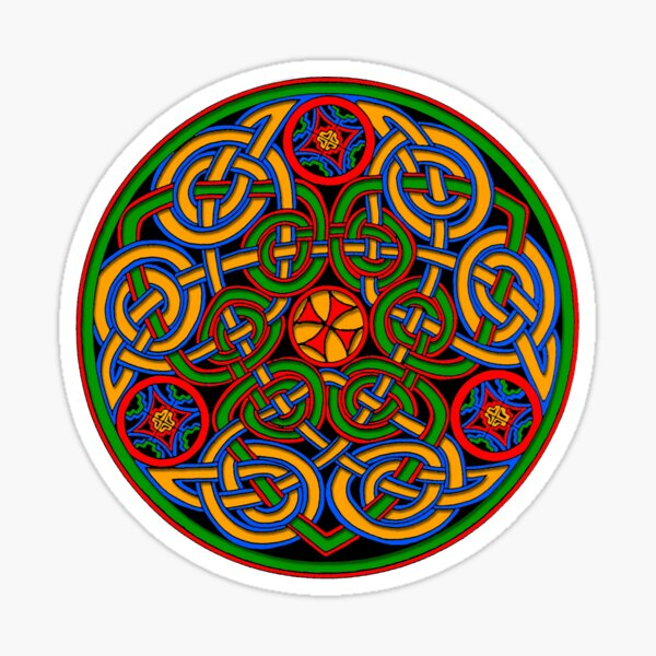 Celtic Illumination - Trinity Circle Sticker