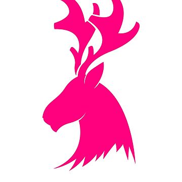 Pink Deer Head For Female Hunter by BiagioDeFranco