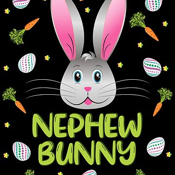 Nephew Bunny Easter Rabbit Carrot Egg Hunt Boys Kids Gift by ZNOVANNA