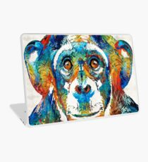 Colorful Chimp Art - Monkey Business - By Sharon Cummings Laptop Skin
