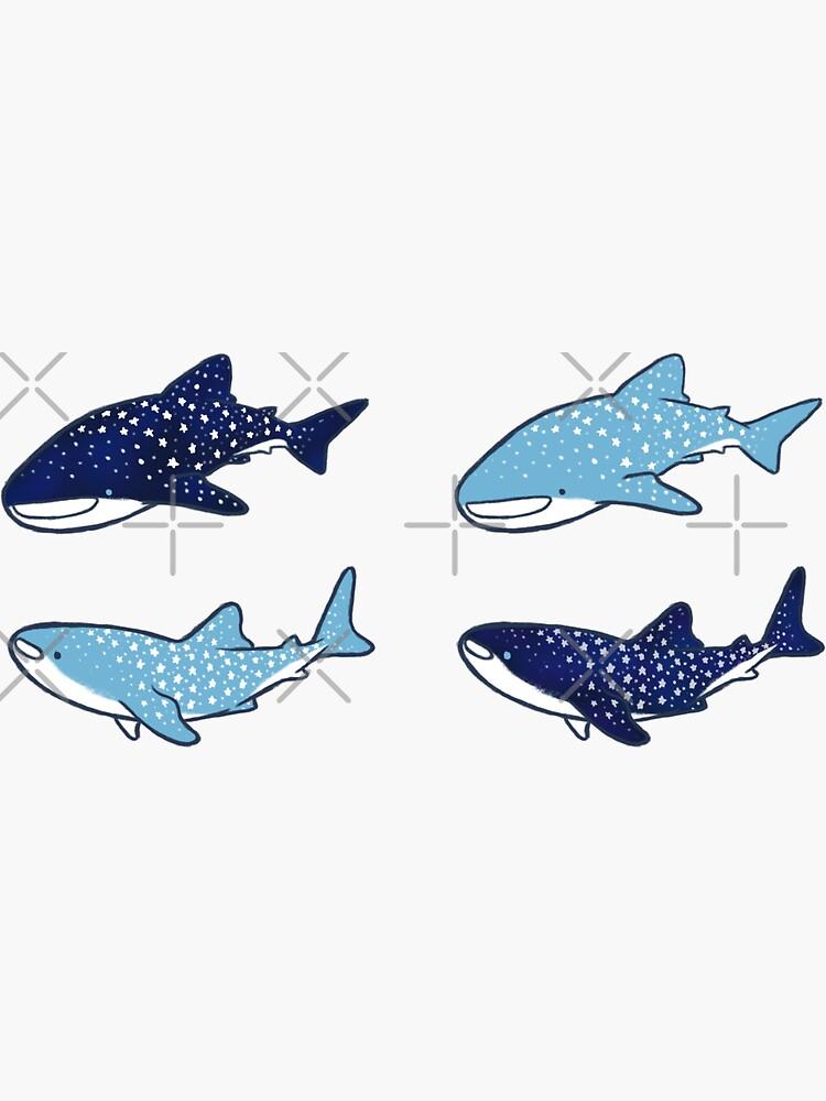 Starry Whale Sharks Sticker set by soyrwoo