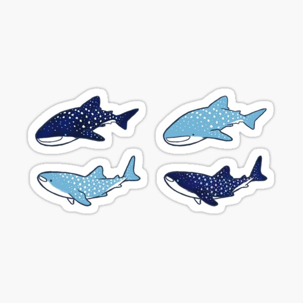 Starry Whale Sharks Sticker set Sticker