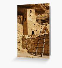 Cliff Palace Tower at Mesa Verde NHS Greeting Card
