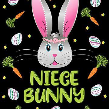 Niece Bunny Easter Rabbit Carrot Egg Hunt Girls Kids Gift by ZNOVANNA