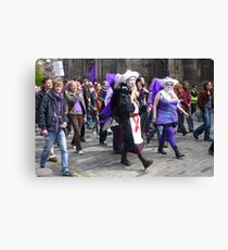 Purple Protest March Canvas Print