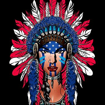 Native American Girl Pocahontas by LeNew