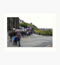 Purple Protest Edinburgh Art Print