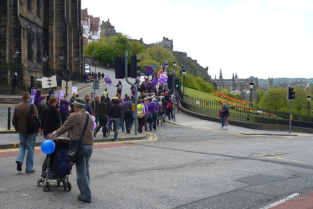 Purple Protest Edinburgh by Yonmei