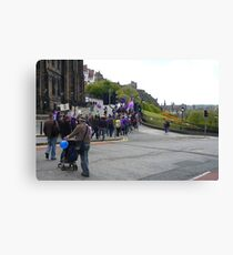 Purple Protest Edinburgh Canvas Print