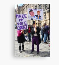 Make My Vote Count Canvas Print
