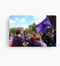 Purple Protest Rally Canvas Print