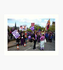Purple People Edinburgh Rally: New Traffic Signals Ahead Art Print