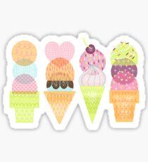 Ice Cream Stamps Sticker
