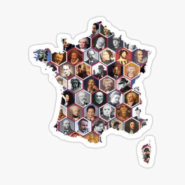 French hexagons Sticker