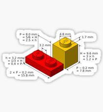 LEGO Dimensionen Sticker
