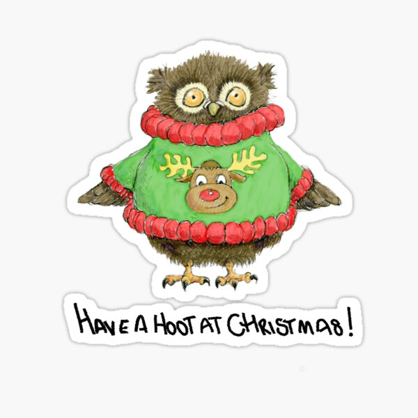 Have a Hoot at Christmas Sticker
