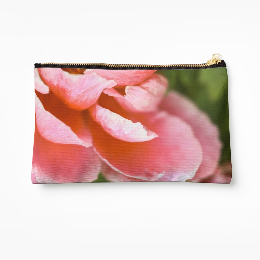 Pink Peony Zipper Pouch