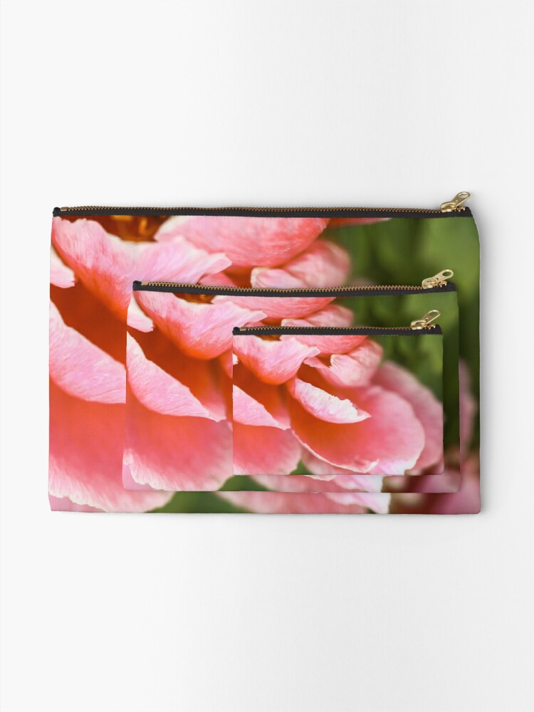 Alternate view of Pink Peony Zipper Pouch