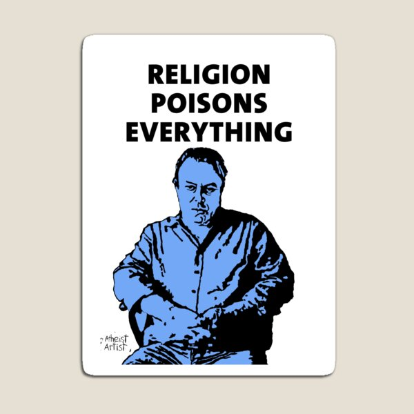 Christopher Hitchens white background Magnet