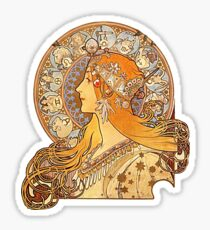 Mucha – Zodiac Sticker