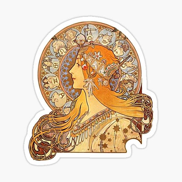 Mucha – Zodiac Sticker