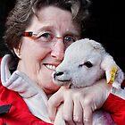 Ich mit einem Day Old Lamb von AnnDixon