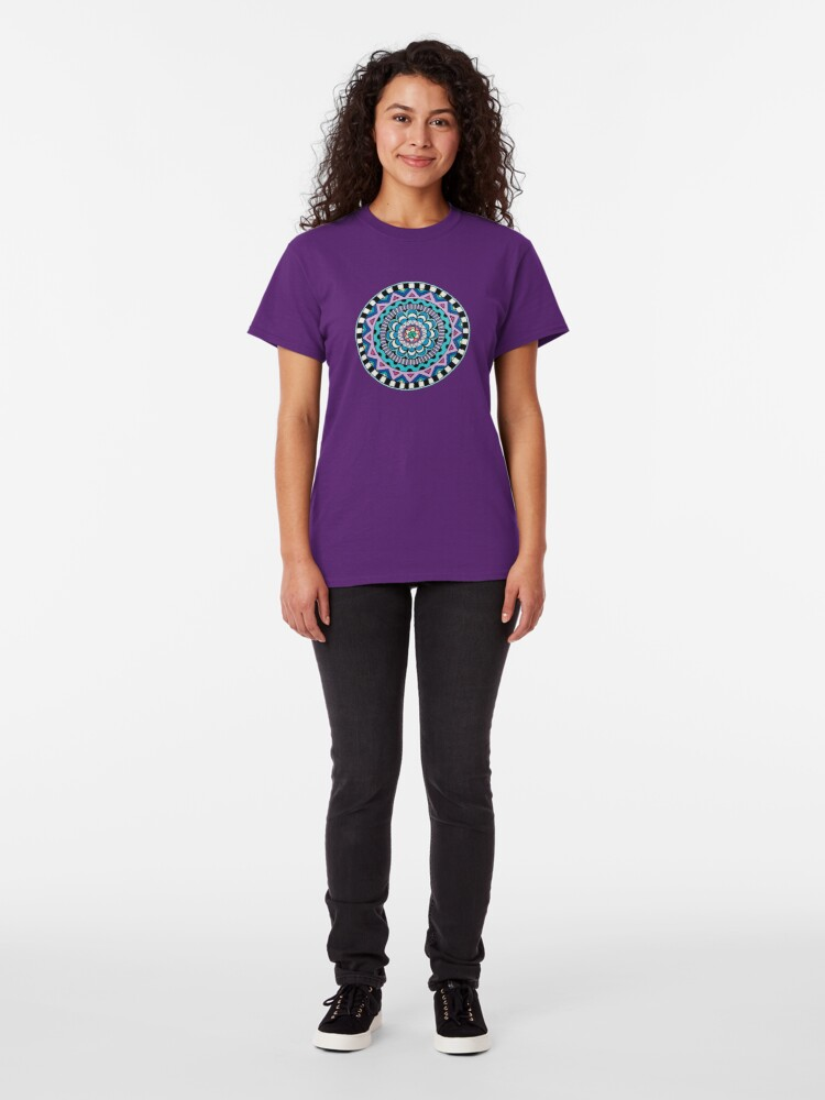 Alternate view of Purple Mandala Classic T-Shirt